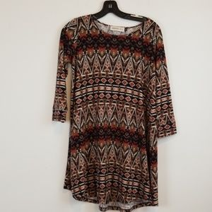 Veronica M. knit printed dress size M